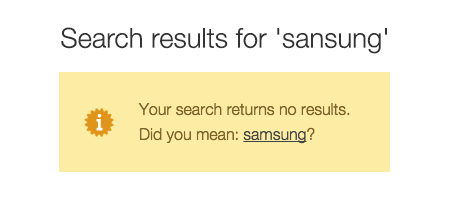Searchanise Did You Mean Functionality